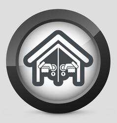 door house opening vector image