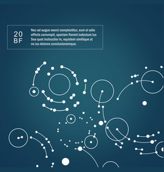 dots connecting circles background vector image