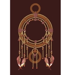 Ethnic dreamcatcher vector