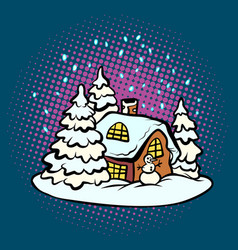 fabulous gingerbread christmas house vector image