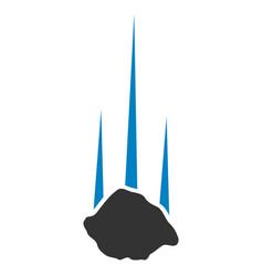 Falling stone icon vector