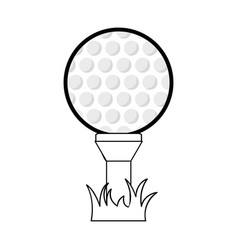 figure golf ball to play game vector image