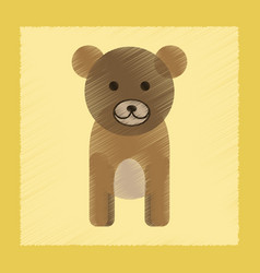 Flat shading style icon cartoon bear vector