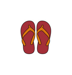 Flip flop icon design template isolated vector