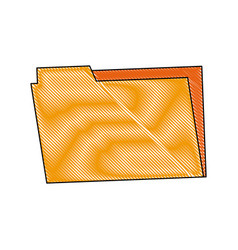 folder archive office supply element blank icon vector image