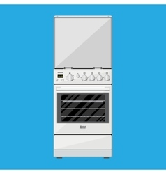 Gas or Electric Cooker in flat style vector image