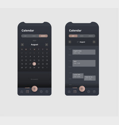Generic and fictional mobile application visual vector
