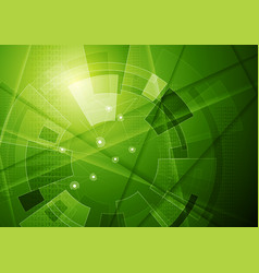 Green tech geometric technology background vector