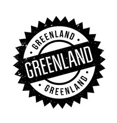 Greenland rubber stamp vector