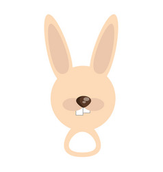 head cute rabbit animal image vector image