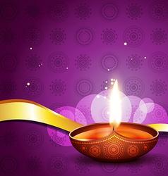 Hindu festival diya vector