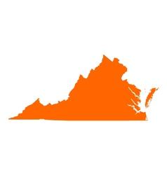 Map of Virginia vector