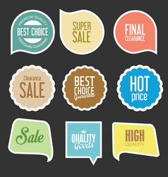 Modern sale stickers and tags collection 5 vector
