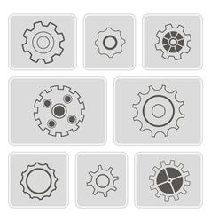 monochrome icons with rackwheel vector image