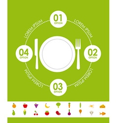 Nutritional food design vector