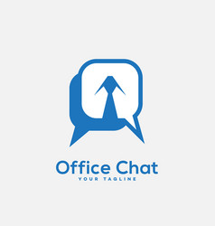 office chat logo vector image