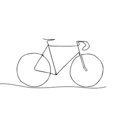 one line drawing or continuous line art a vector image