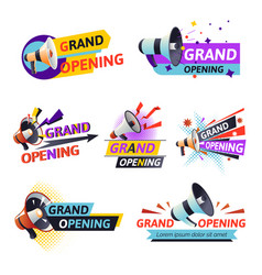 open ceremony or grand opening isolated icon vector image