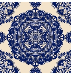 Ornamental seamless pattern Blue ethnic vector