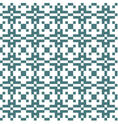 pixel ethnic seamless pattern vector image