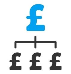 Pound Hierarchy Flat Icon Symbol vector