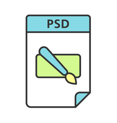Psd file color icon layered image file format vector
