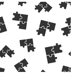 Puzzle compatible icon seamless pattern vector
