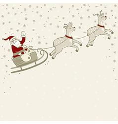 Santa on sleigh vector