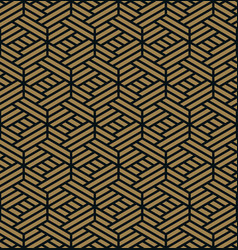 Seamless pattern elegant linear ornament vector