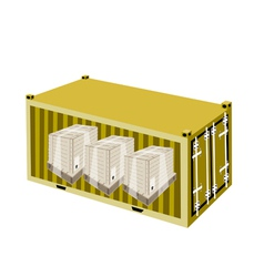 Shipping Boxes in Cargo Container vector
