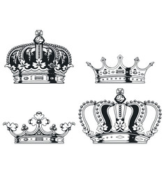 Silhouette heraldry royal crown transparent vector