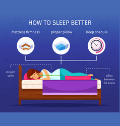 Sleep better infographic composition vector