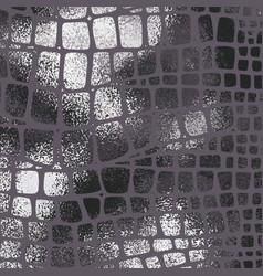 Snake skin black metallic elegant texture with vector