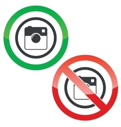 Square camera permission signs vector