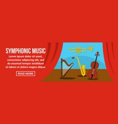 symphonic music banner horizontal concept vector image