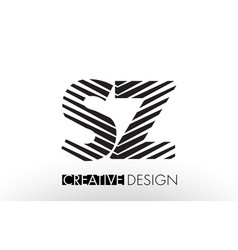 sz s z lines letter design with creative elegant vector image