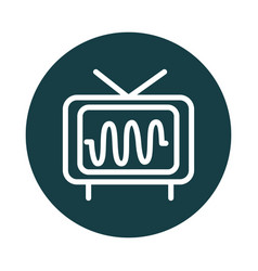 Television frequency audio sound block style icon vector