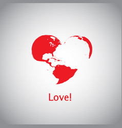the heart world - love vector image