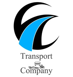 Transportation company logo vector
