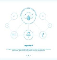 Upload cloud Concept network design vector