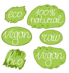 vegan day colorfull set vector image