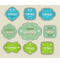 vintage labels retro style set vector image