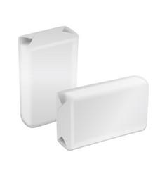 White blank foil or paper packaging sachet vector