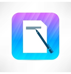 writing icon vector image