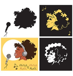 African American woman singing vector image