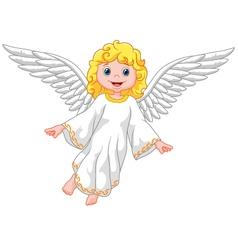 Cartoon angel isolated on white background vector image