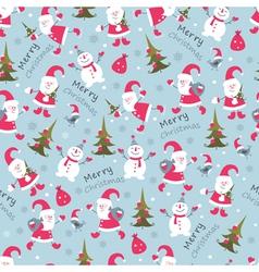 Christmas seamless 2 vector image