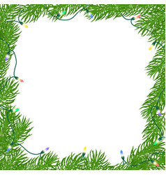 christmas square frame vector image