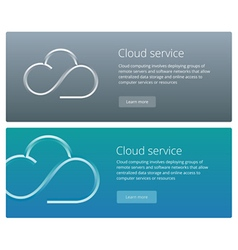 Cloud service concept web banner and promotion vector image