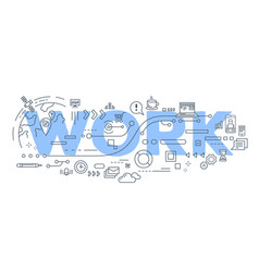 creative of work word lettering vector image